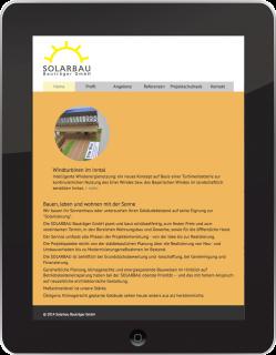 responsive web design solarbau bauträger gmbh ipad