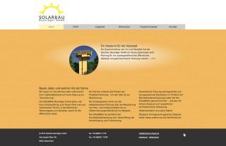 responsive web design solarbau bauträger gmbh website