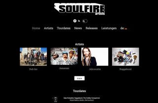 responsive website redesign soulfire artists