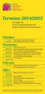 freie waldorfschule rosenheim terminflyer