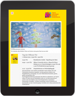 responsive web design freie waldorfschule rosenheim