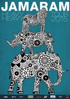 jamaram & acoustic night allstars poster »heavy heavy 2015«