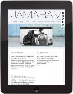 jamaram responsive web design ipad