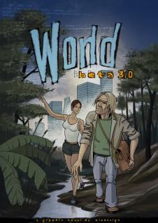 Titellayout der graphic novel world beta 3.0