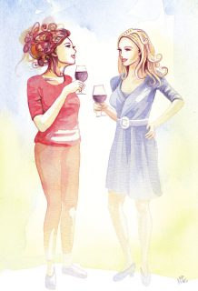 aquarell illustration aperitiv