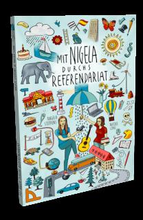buchcover illustration mit nigela durchs referendariat