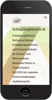 responsive website iphone redesign schlagzeuglehrerin