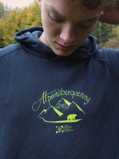 t-shirts und hoodies alpenüberquerung 2018