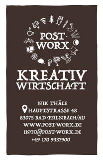 post-worx kreativwirtschaft visitenkarte