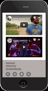 samy danger smartphone ansicht