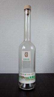 flasche branttweinetikett hofreuther nr. 1