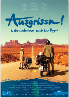 poster design ausgrissn! in der lederhosn nach las vegas